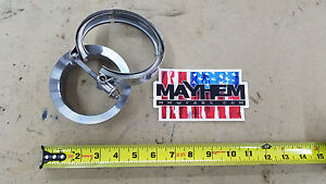 Borg Warner S300 Marmon X 3 5 Tube Billet Steel Turbo Exhaust Flange Clamp