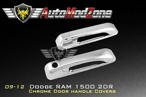 09 17 Dodge Ram Chrome 2 Door Handle Cover Covers W O Psg Keyhole