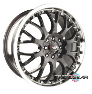 18 Drag Dr19 Gun Metal Wheels Rims For Honda Civic Accord Crx Lancer