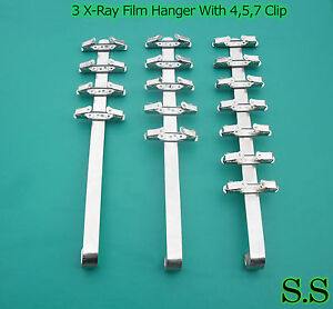3 Pieces Dental X ray Film Hanger With 4 Clip 5 Clip 7 Clip dental Supply