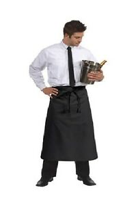 New Black Full Bistro Apron qty 6