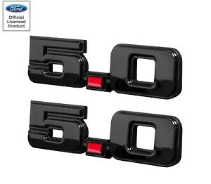 1979 1993 Ford Mustang 5 0 Exterior Fender Trunk Emblems In Black Red Pair