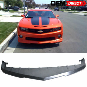 For 10 13 Chevrolet Camaro Front Bumper Lip Unpainted Poly Urethane
