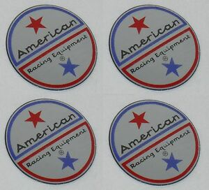 4 Set American Racing Vintage Wheel Rim Center Cap Sticker Logo 1 5 Dia 36mm