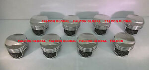 Speed Pro trw Chevy 396 375hp Forged 38cc Dome Coated Skirt Pistons Set 8 60
