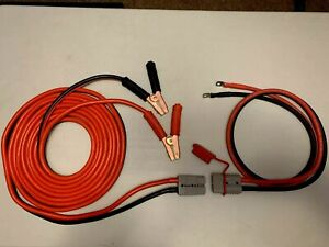 1 Gauge 30 Ft Quick Disconnect Jumper Booster Cable Set Tow Service Truck 2437b