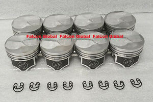 Chevy 7 4 454 Speed Pro Hypereutectic Coated Skirt 22cc Dome Pistons Set 8 030