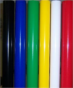 Adhesive Vinyl Kit 6 Rolls Of Vinyl For Vinyl Plotter Cutter 24 x 9 Each