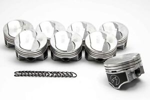 Chevy 454 Speed Pro Hypereutectic Coated 10cc Dome Pistons Moly Rings Kit 40