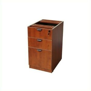 Filing Cabinet File Storage 3 Drawer Lateral Wood Locking Drawers In Cherry