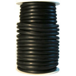 50 Foot 1 4 Id X 3 32 W X 7 16 Od Latex Tubing Surgical Rubber Black
