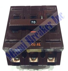 A370 Wadsworth Type A Circuit Breaker 3 Pole 70 Amp 240v