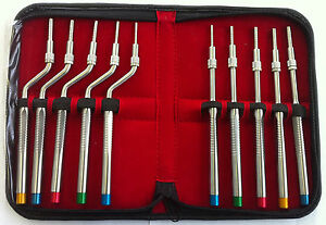 10 Sinus Osteotomes Set Implant Dental Instruments Bone Grafting Elevators