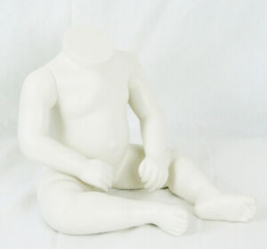 Fusion Specialties Baby 6 Month Boy Girl Headless Mannequin Display Form White