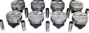 Speed Pro Chevy 400 Hypereutectic Coated Flat Top Pistons Set 8 For 5 7 Rod 30