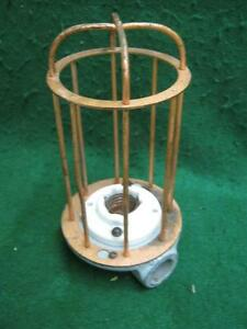 Vintage Industrial Factory Warehouse Steampunk Cage Light Old 2573 13