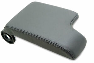 Center Console Armrest Real Leather Cover For Bmw E46 99 04 Gray