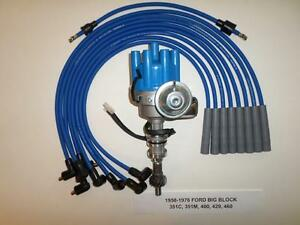 Ford Big Block 351c 429 460 Blue Electronic Small Cap Hei Distributor plug Wires