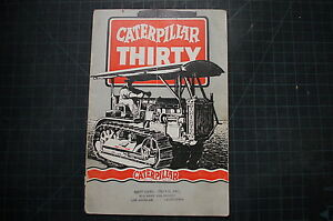 Cat Caterpillar Thirty Crawler Sales Brochure Manual 30 Dozer Tractor Holt Rare