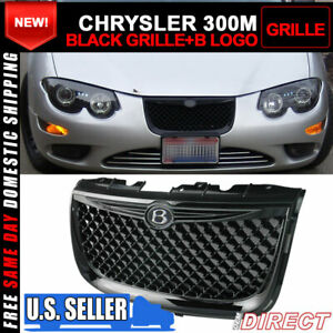 Fit 99 04 Chrysler 300m Diamond Abs Black Front Bumper Mesh Hood Grill Grille