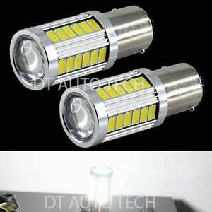 2x 1156 Projector 5630 Chip Led 6000k White Turn Signal Brake Tail Lights Bulbs
