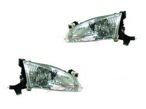 For 1998 2000 Toyota Corolla Ve Le Ce Sedan Head Lights Driver Passenger Side