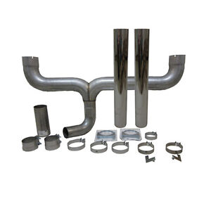 Grand Rock Stack Kit Dual 4 Inlet 4 Stack Straight Cut