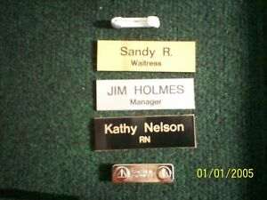 Engraved Employee Personalized Name Tag Badge 1x3 Pin Or Magnet
