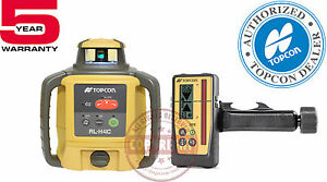 Topcon Rl h4c Rb Ls 100d Self leveling Rotary Grade Laser Level transit
