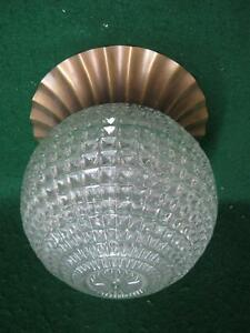 Vintage Crystal Mid Century Shabby Cut Glass Ceiling Light Fixture Chic 2666 13