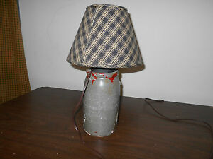 Antique Primitive Crock Made Into Lamp