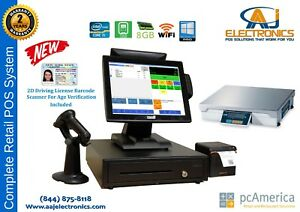 All In One Touch Screen Pos Complete System pc America Cre With Weight Scale