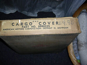 Amc Nash Rambler Station Wagon Cargo Cover 1956 1959 Ambassador Rebel Rambler