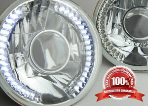 7 Chrome Projector Led Halo Sealed Beam H6024 Glass Headlight Lamp Chevy
