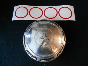 Mopar Redline Inserts Dodge Dog Dish Hubcaps Hemi Charger Super Bee Dart Demon