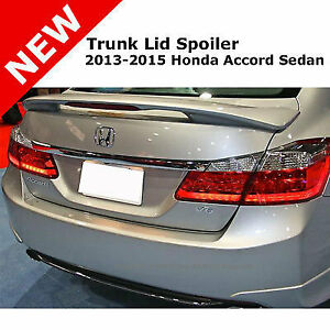 13 For Accord 4d Pedestal Tail Trunk Rear Spoiler Wing Lip Primer Unpainted
