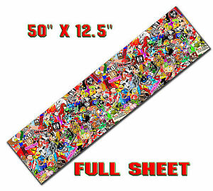 1 Sticker Bomb Sheet Long Jdm Honda Decal 50 X 12 5 Each 3m Wrap Vinyl Gloss