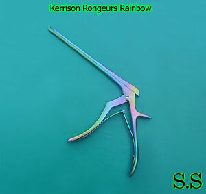 1 Piece Kerrison Cervical Rongeur 4mm Up Bite 45 Degree Angle Rainbow Color