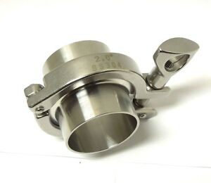 Sanitary Assembly 2 Ferrule Gasket Clamp 304 Stainless Tri Clover san02kit