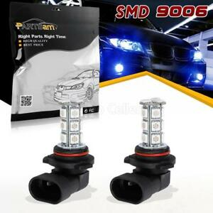 2pcs Bright Blue 9006 Fog Lights 18 Smd Hb4 Led Bulbs Drl Daytime Running