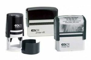 Colop Self Inking Rubber Stamp Custom Bespoke Name And Address Logo s