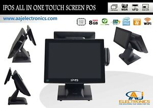 Ipos All In One Touch Screen System 8gb Ram 128gb Ssd wifi Restaurant retail Pos