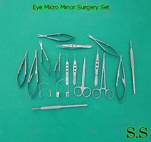 20 Pc Eye Micro Minor Surgery Ophthalmic Veterinary Surgical Instruments Ey 018
