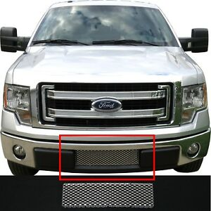 Ccg Mesh Grill Insert For 09 14 Ford F 150 Lower Bumper Grille Perf Gt Silver
