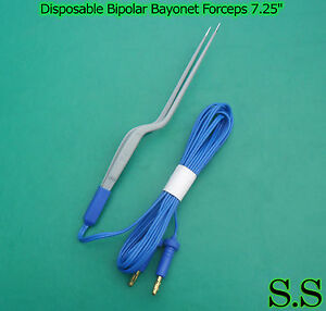 Disposable Bipolar Bayonet Forceps 7 25 Electrosurgical Instruments El 024
