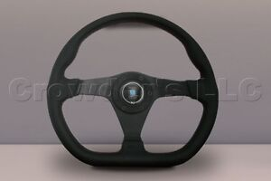 Nardi Gara Sport Steering Wheel 350mm Black Perforated Leather With Red Stitch