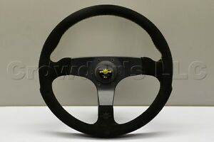 Nardi Personal Fitti Corsa Steering Wheel 350mm Black Suede Leather