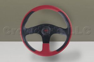 Nardi Personal Steering Wheel New Racing 320mm Red Black Leather