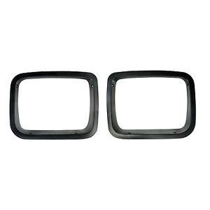Headlight Bezels Pair Black For Jeep Wrangler Yj 1987 95 12419 24 Rugged Ridge