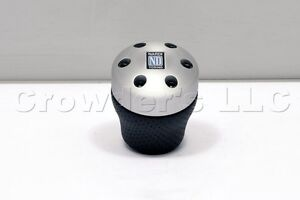 Nardi Aluminum Leather Gear Shift Knob Ambition For Opel Volvo Renault Alfa